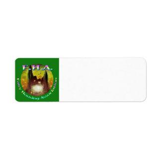 Etiqueta del regalo del miembro de FHA Etiquetas De Remite