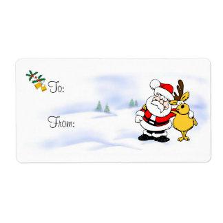 Etiqueta del regalo del navidad - acebo, Belces y Etiqueta De Envío