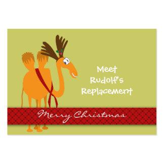 Etiqueta del regalo del navidad (camello) - person plantillas de tarjetas de visita