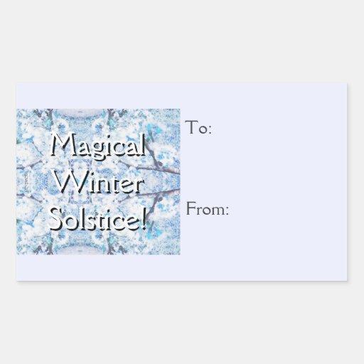 Etiqueta del regalo del navidad de la nieve de