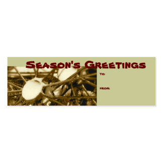 Etiqueta del regalo del navidad de la rueda del tr plantilla de tarjeta de negocio