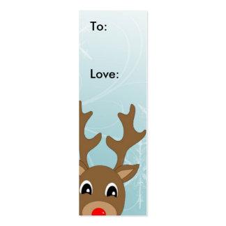 Etiqueta del regalo del navidad de Raindeer Tarjetas De Visita Mini