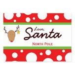 Etiqueta del regalo del navidad de Santa Tarjetas De Visita Grandes