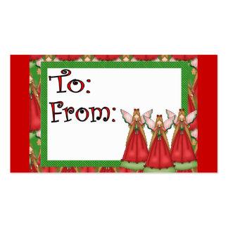 Etiqueta del regalo del navidad del ángel tarjeta de negocio