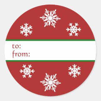 Etiqueta del regalo del navidad del copo de nieve