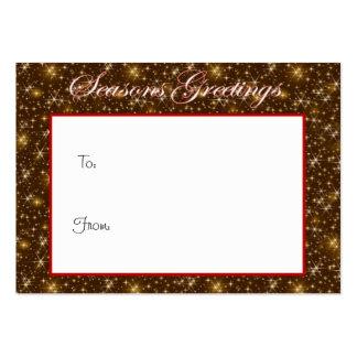 Etiqueta del regalo del navidad del oro de los sal tarjetas de visita