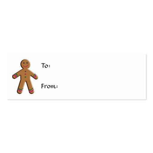 Etiqueta del regalo del navidad del pan de jengibr tarjetas personales