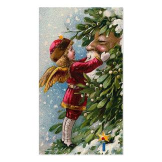 Etiqueta del regalo del navidad del vintage del tarjetas de visita