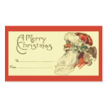 Etiqueta del regalo del navidad del vintage plantilla de tarjeta de negocio