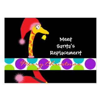 Etiqueta del regalo del navidad (jirafa) - persona plantillas de tarjetas de visita