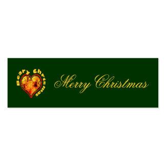 Etiqueta del regalo del navidad Navidad de Beary Tarjetas De Visita