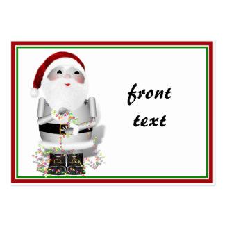 Etiqueta del regalo del navidad tarjetas de visita grandes