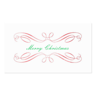 Etiqueta del regalo del navidad tarjetas de visita