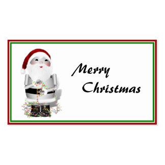 Etiqueta del regalo del navidad