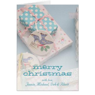 Etiqueta del regalo del navidad tarjeta de felicitación
