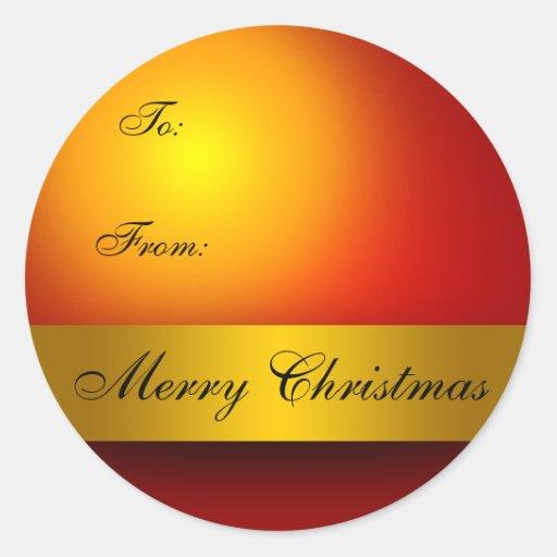 Etiqueta del regalo del ornamento de las Felices