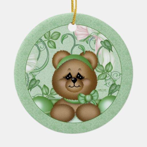 Etiqueta del regalo del ornamento de Peapod Ornamento De Navidad
