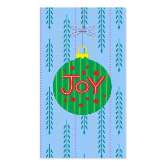 Etiqueta del regalo del ornamento del navidad tarjetas de visita