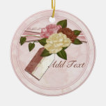 Etiqueta del regalo del ornamento del té del adorno