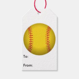 Etiqueta del regalo del softball etiquetas para regalos