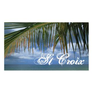 Etiqueta del regalo del St Croix Tarjetas De Visita