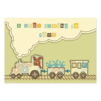 Etiqueta del regalo del tren de Choo Choo Tarjetas De Visita Grandes