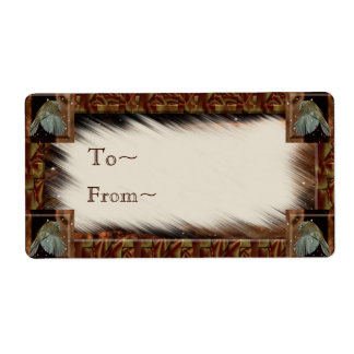 Etiqueta del regalo del Wren Etiquetas De Envío