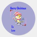Etiqueta del regalo para el pegatina del navidad