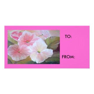 etiqueta del regalo tarjetas fotográficas