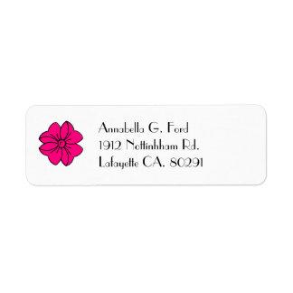 etiqueta del remite, arco de las rosas fuertes etiqueta de remite