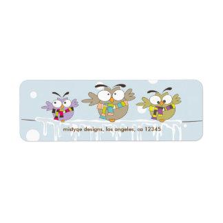 Etiqueta del remite de Avery de los búhos de Chill Etiquetas De Remite