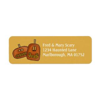 Etiqueta del remite de Halloween del dúo de la Etiqueta De Remitente