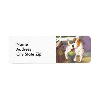Etiqueta del remite de Jack Russell Terrier Etiquetas De Remite