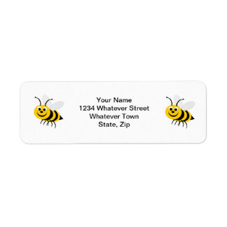 Etiqueta del remite de la abeja etiquetas de remite