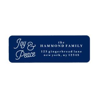 Etiqueta del remite de la alegría y de la paz etiqueta de remite