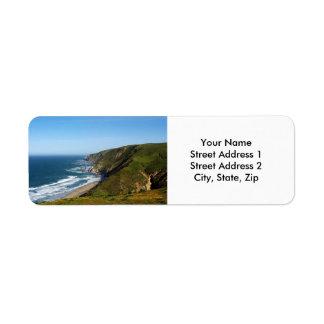 Etiqueta del remite de la costa de California Etiquetas De Remite