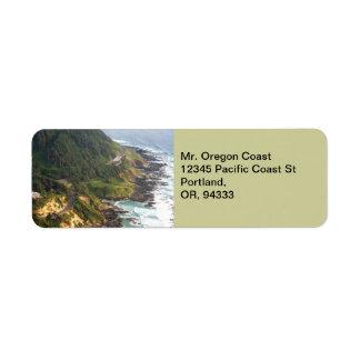 Etiqueta del remite de la costa de Oregon Etiqueta De Remite