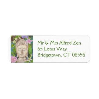Etiqueta del remite de la flor de Buda Etiquetas De Remite