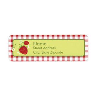 Etiqueta del remite de la fresa etiqueta de remite