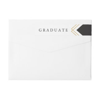 Etiqueta del remite de la hoja de la graduación de etiquetas para remite