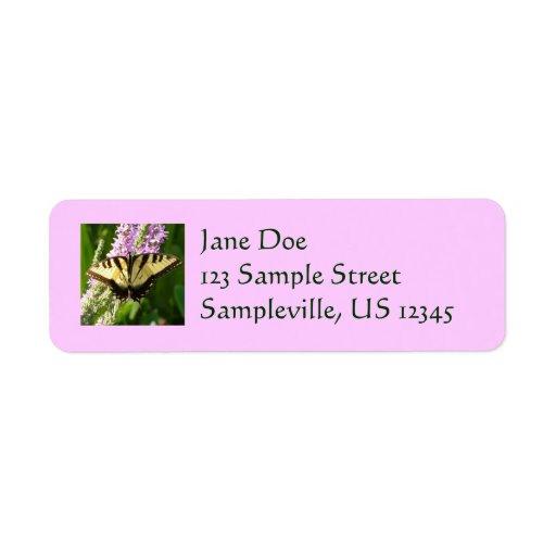 Etiqueta del remite de la mariposa de Swallowtail Etiqueta De Remite
