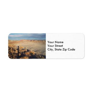 Etiqueta del remite de la onda del desierto etiquetas de remite