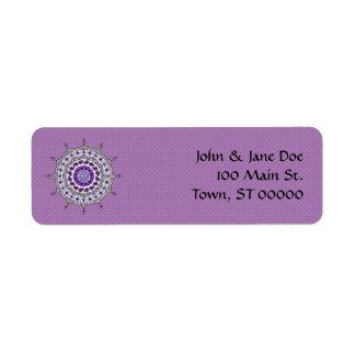 Etiqueta del remite de la plata de la fantasía de etiquetas de remite