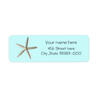 Etiqueta del remite de la playa de las estrellas d etiqueta de remite