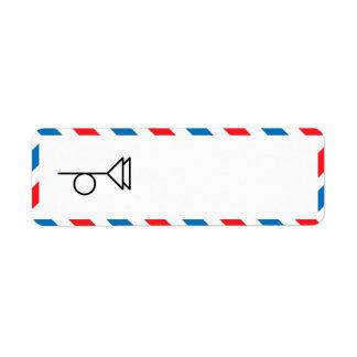 Etiqueta del remite de la porción 49 etiquetas de remite