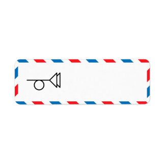 Etiqueta del remite de la porción 49 etiqueta de remite