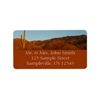 Etiqueta del remite de la puesta del sol del etiquetas de dirección