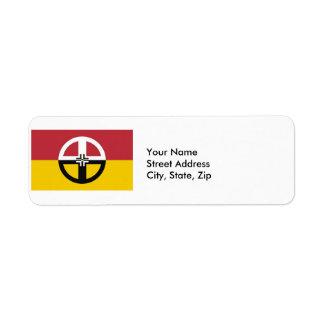Etiqueta del remite de la rueda de la medicina etiqueta de remitente