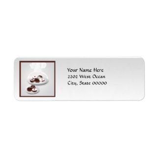 Etiqueta del remite de la tienda del panadero de etiquetas de remite