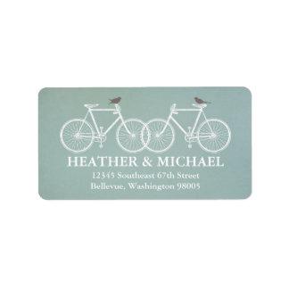 Etiqueta del remite de las bicicletas y de los páj etiqueta de dirección